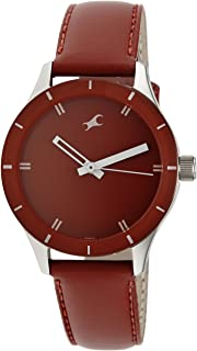 Fastrack Monochrome Red Dial Analog Watch for Women