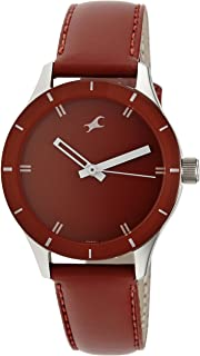Fastrack Women's Analog Watch-Quartz Mineral Dial - Silver Metal Strap (red 2)