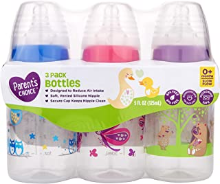 Parents Choice 5 Ounce Baby Bottles Slow Flow Nipple by Parent's Choice