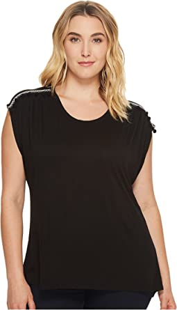 B Collection by Bobeau - Plus Size Norah with Trim Detail