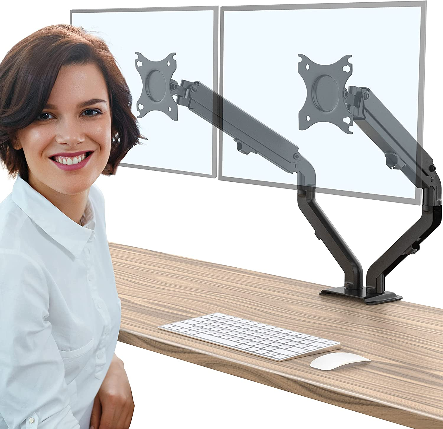 AboveTEK Dual Monitor Stand for 17