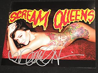 DANIELLE HARRIS Signed 8x10 Photo Halloween Scream Queen Autograph B