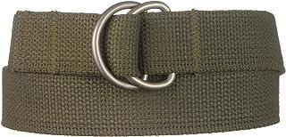 "Strait City Trading Co Men's 1-1/4"" heavy cotton dee-ring belt"