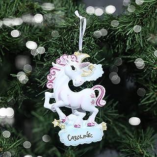 Unicorn Christmas Tree Decorations White Horse Bauble Xmas Dec Gisela Graham New