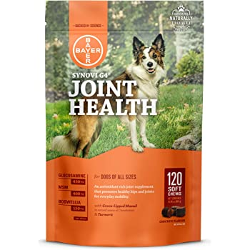 Synovi G4 Dog Joint Supplement Chews, 120-Count, for Dogs of All Ages, Sizes and Breeds