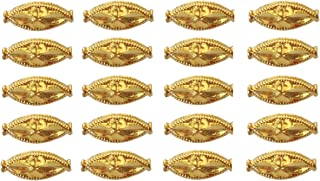 Satfale Jewellers Solid 22K Yellow Fine Gold 11MM 2 Pieces Unique Indian Handmade Wheat Beads