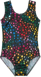 AIDEAONE Gymnastics Leotards for Girls Sparkle Dance Unitards One Piece Athletic Clothes Activewear 3-8 Years