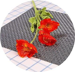 シミュレーションポピー4小虞美ポピー造花工学ホームレイアウト5色,オレンジレッド