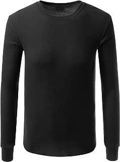 JD Apparel Men's Hipster Hip Hop Crewneck Thermal Long Sleeve T Shirt