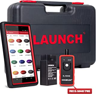 LAUNCH X431 Pro Mini Bidirectional Scan Tool Full System Scan with ECU Coding, Injector Coding,Key Fob Programming,Oil Reset,TPMS,BMS,SAS,DPF,EPB,ABS Bleeding + TPMS Activation Tool EL-50448 As Gift