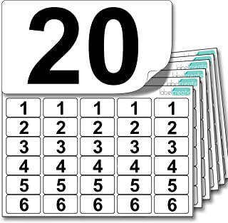 Premium Plastic Number Stickers 1 to 20 (x5 of Each Number + 25 Blank Spares). Ultra Durable Label Stock. Suitable for Outdoor Use. 100% Waterproof.