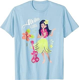 Vintage Hawaiian Hula Girl Shirt Tropical Beach Aloha 1