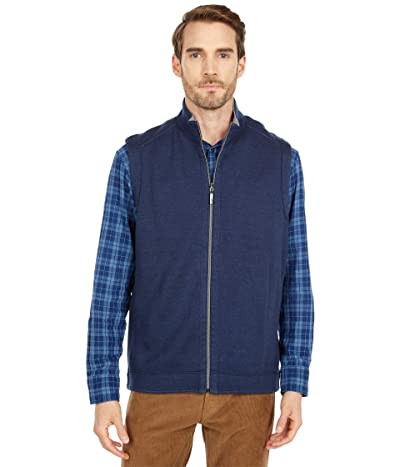 Tommy Bahama Flipshore Full Zip Vest (Ocean Deep) Men