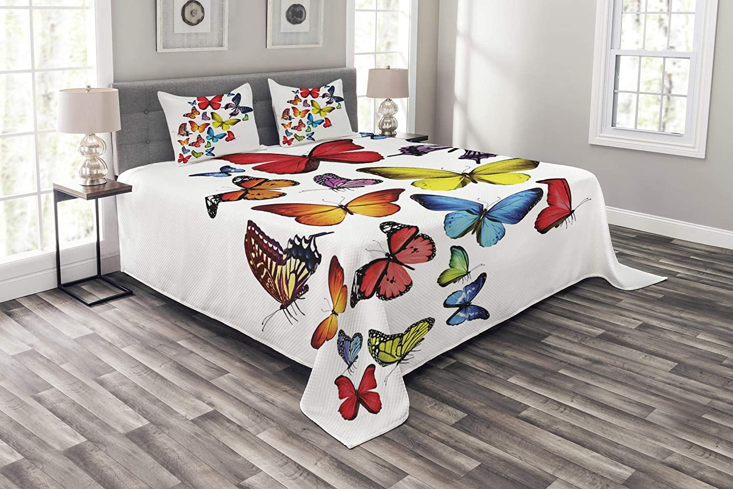 Ambesonne Butterflies Bedspread Mail order cheap Different Many Roma Ranking TOP14