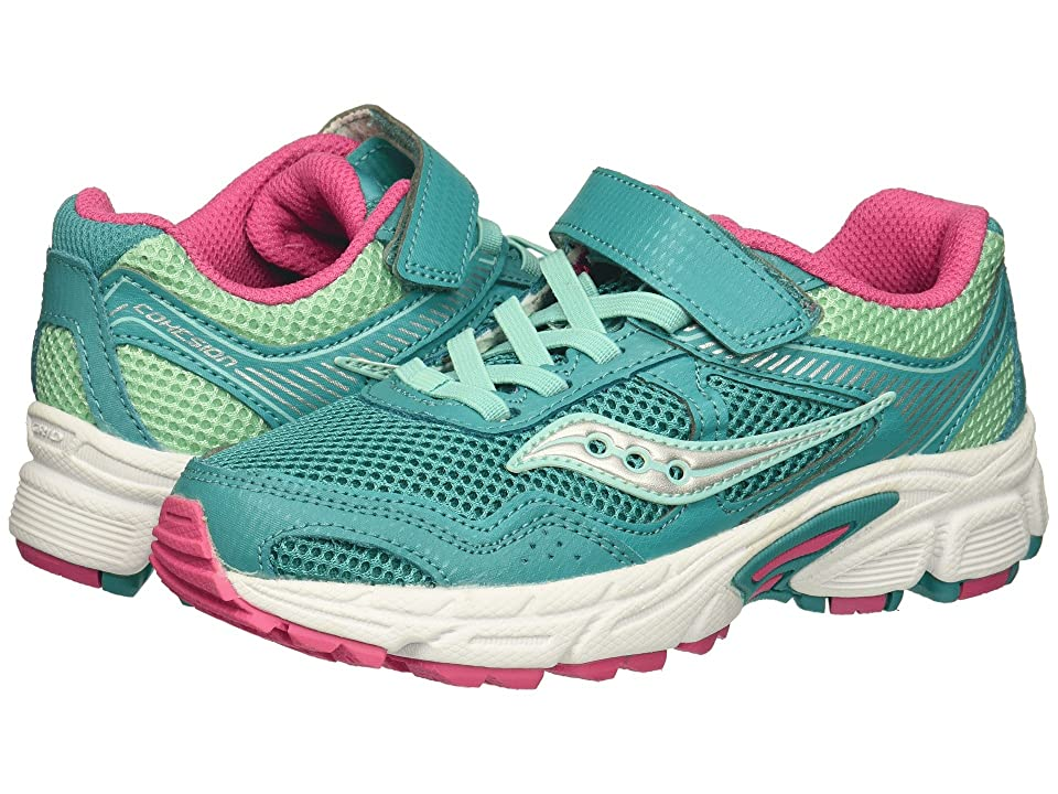 Saucony Kids Cohesion 10 A/C (Little Kid) (Turquoise) Girls Shoes