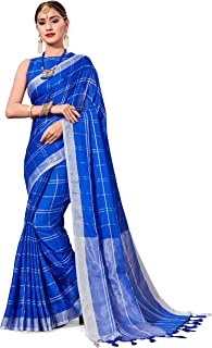 Saree for Women Cotton Art Silk Sarees for Indian Wedding Gift, Sari and Unstitched Blouse Piece