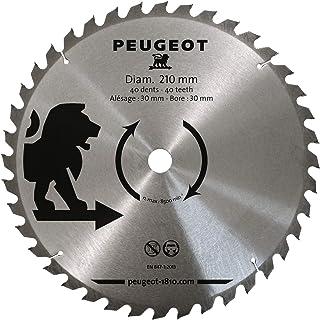 Peugeot Outillage 801334 Peugeot Ø210mm Lame à pastilles carbure Ø210mm-Alésage 30 mm-40T