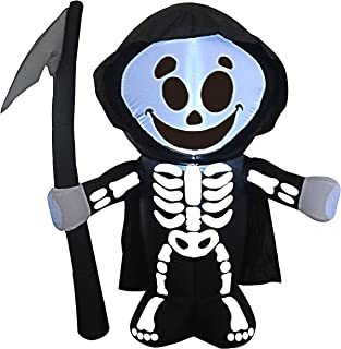 Joiedomi Halloween 5 FT Inflatable Reaper with Build-in LEDs Blow Up Inflatables for Halloween Party Indoor, Outdoor, Yard, Garden, Lawn Decorations