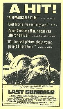 Last Summer [VHS]