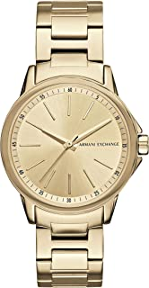 Armani Exchange Women's Lady Banks Three Hand Gold-Tone Stainless Steel Watch AX4346