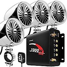 """GoHawk TJ4-Q 1000W 4 Channel Amplifier 4"""" Full Range Waterproof Bluetooth Motorcycle.."""