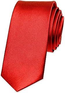 Autiga® Krawatte Herren Hochzeit Konfirmation Slim Tie Retro Business Schlips schmal