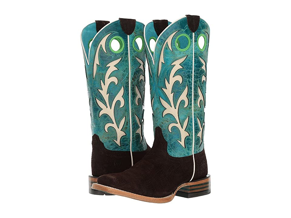 Ariat Chute Out (Chocolate Hippor Print/Under the Sea) Cowboy Boots