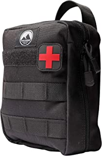Ridge Recon First Aid Kit Fully Stocked for Emergency First Responder IFAK | Care for Self and Others in Emergencies | Includes Israeli Bandage, CAT Tourniquet and Tactical Bag with MOLLE Attachments