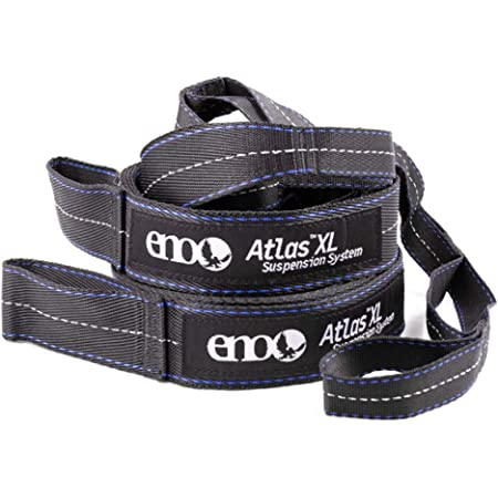 """ENO, Eagles Nest Outfitters Atlas XL Hammock Straps Suspension System with Storage Bag, 400 LB Capacity, 13'6"""" x 1.5/.75"""""""