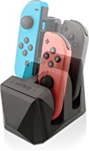 Nyko Charge Block for Joy Con - 4 port Joy-Con charge station with included Micro-USB/AC power cord for Nintendo Switch