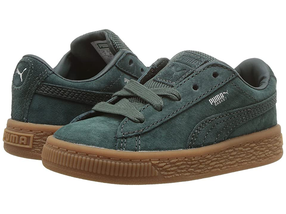 Puma Kids Basket Classic Weatherproof (Toddler) (Green Gables/Green Gables) Girls Shoes