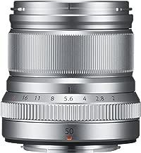 Fujifilm Fujinon XF50 mm F2 R WR - Objetivo para Fujifilm con montura X (distancia focal de 50 mm, apertura f/2-16, autofocus), color plata