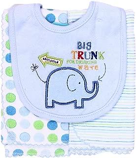 Spasilk Baby-Boys Newborn Set Of Bib and Two Burpcloths