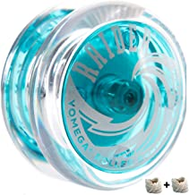Yomega Raider - Professional Responsive Ball Bearing Yoyo, Great for Kids, Beginners and for Advanced String Yo-Yo Tricks and Looping Play. + Extra 2 Strings & 3 Month Warranty (Light Blue)