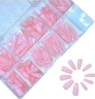 Pose Américaine Boite 600 pcs Capsule En Gel Passio'Nails Easycaps Rose Nude Medium Coffin 10 Tailles pour débutant, proth...