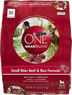 Purina ONE Adult Small Bites Beef & Rice Formula Dry Dog Food