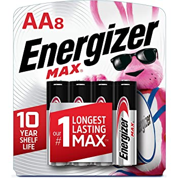 Energizer AA Batteries (8 Count), Double A Max Alkaline Battery