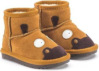 Snugs, stivali per bambini, in pelle selvatica e di agnello, per ragazzi e ragazze