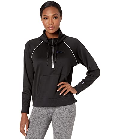 Champion Phys Ed 1/2 Zip Pullover (Black) Women
