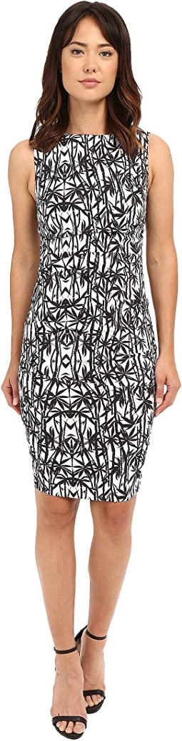 Nicole Miller Bamboozled Lauren Linen Sheath