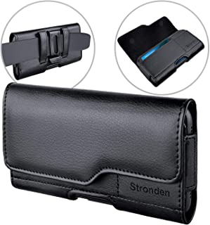 Stronden iPhone 11 Pro Max, XS Max, 8 Plus, 7 Plus Holster - Leather Belt Case with Belt Clip [Magnetic Closure] Pouch w/Built in ID Card Holder (for Slim/Thin Case ONLY)