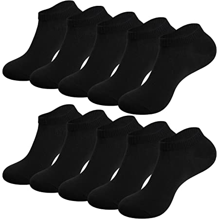 TANSTC Ankle Socks for Men Women 3/6/10 pairs Trainer Socks Breathable Sports Low Cut Socks Running Socks for Casual and Athletic Wear