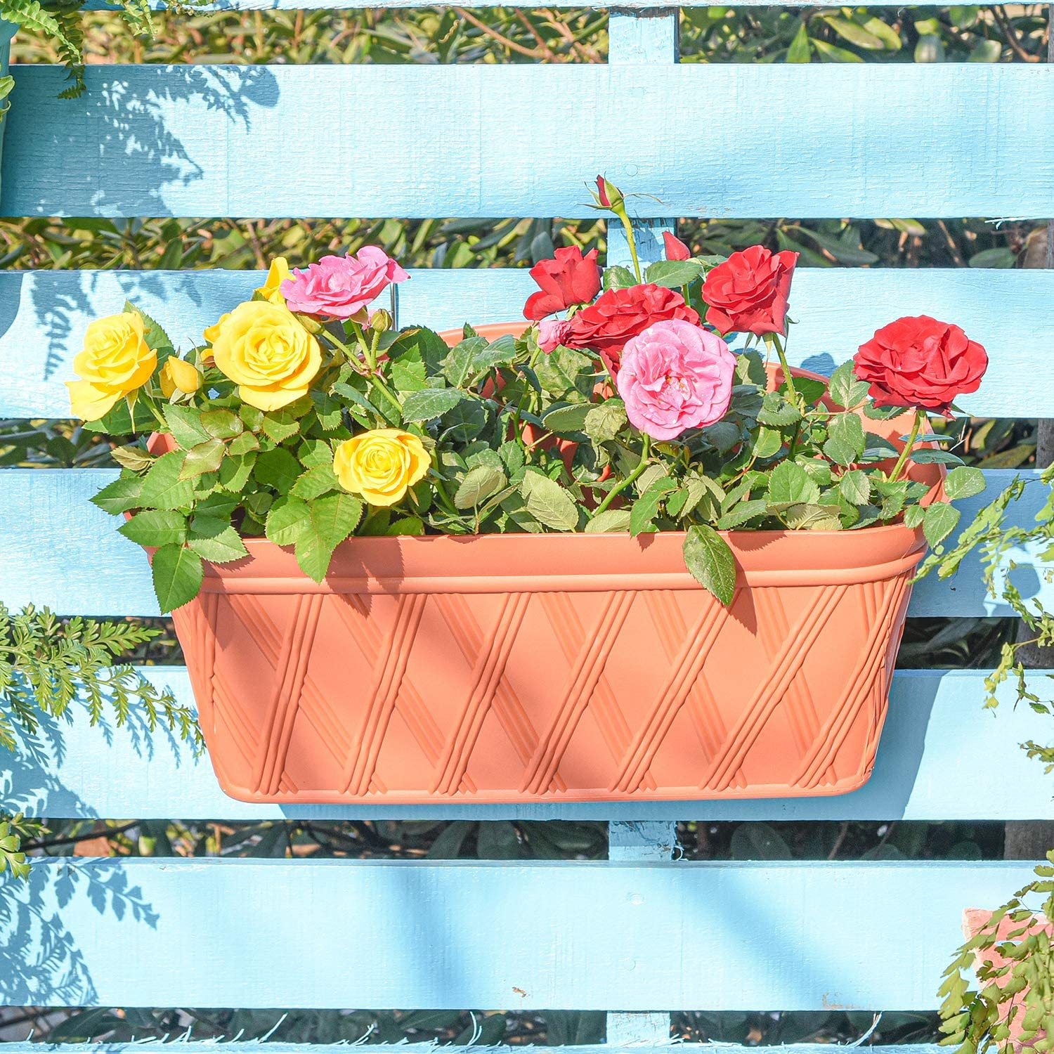 Sungmor Quality Plastic Wall Hanging Planter Surprise price - Max 85% OFF Rectangle P 3PC
