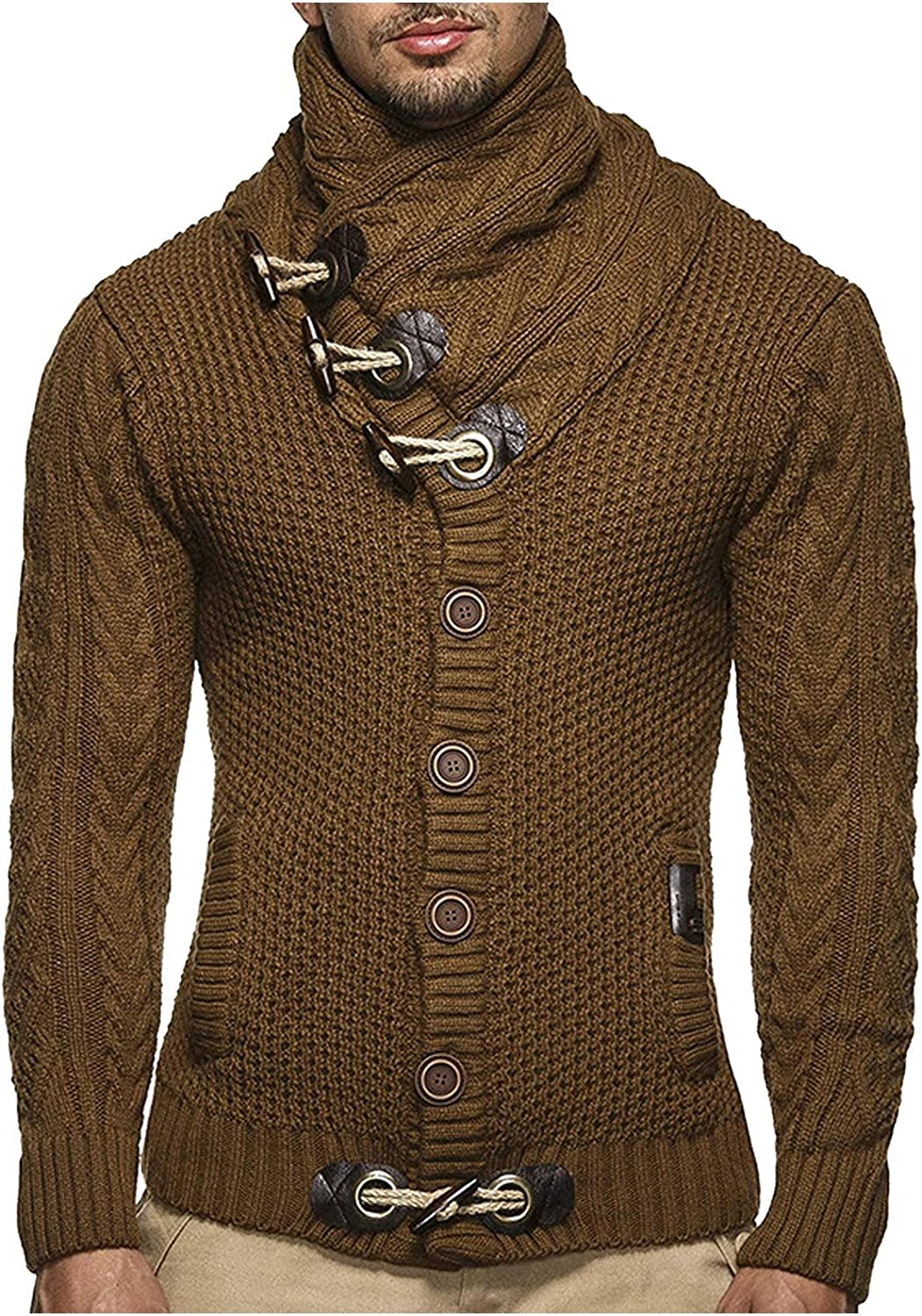 UBST Knitted Sweaters Time sale for Mens At the price of surprise Fall Pullover Neck Cowl H Winter