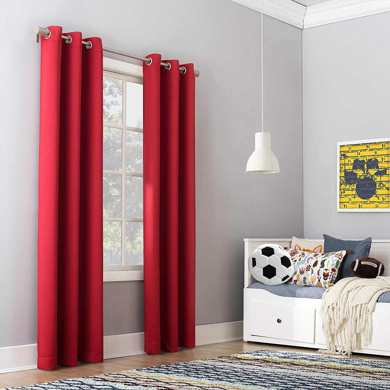 Sun Zero Riley Super popular specialty store Kids Bedroom Curtain Trust Grommet 40