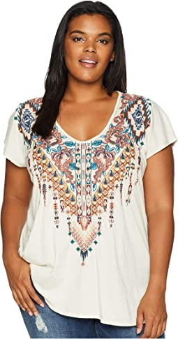 Plus Size Nala Deep Scoop T-Shirt