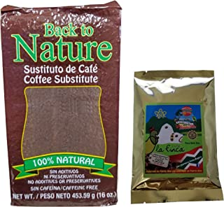 Back To Nature Chickpea Coffee Substitute 100% Natural Caffeine Free Includes a 2 Ounce Bag Of La Finca Coffee(1)