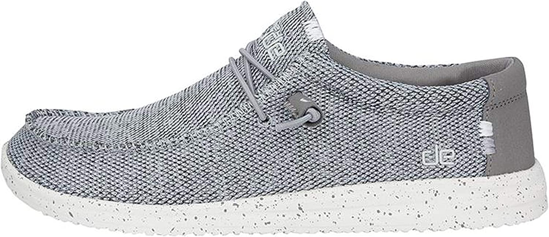 Dude shoes Hey Men's Wally Sox Airflow Light Grey