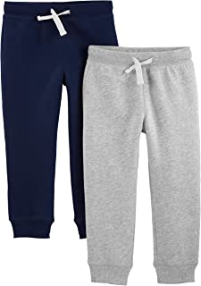 Toddler Boys' 2-Pack Pull on Fleece Pants