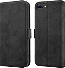 iPhone 8 Plus iPhone 7 Plus iPhone 6 Plus Case Zover Premium PU Leather Wallet Case [RFID Blocking] with Cards Holder Support Wireless Charging Car Mount Kickstand(6/ 6s/ 7/8 Plus 5.5